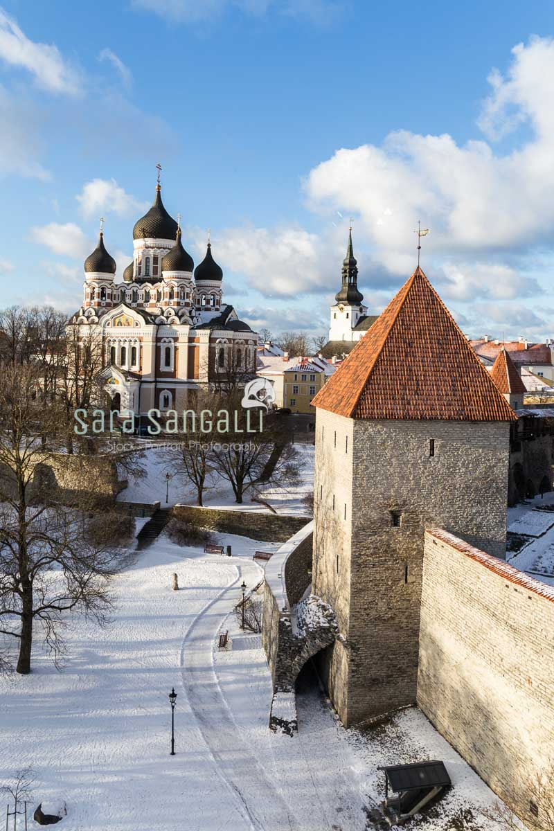Viev of the Alexander Nevsky Cathedral from the Kiek in de Kök cannon tower in tallinn