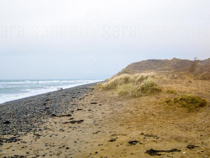 Natura, sabbia e sassi nell Riserva Naturale Di Murlough a Keel Point, Dundrum, BT33 0NQ Irlanda del Nord