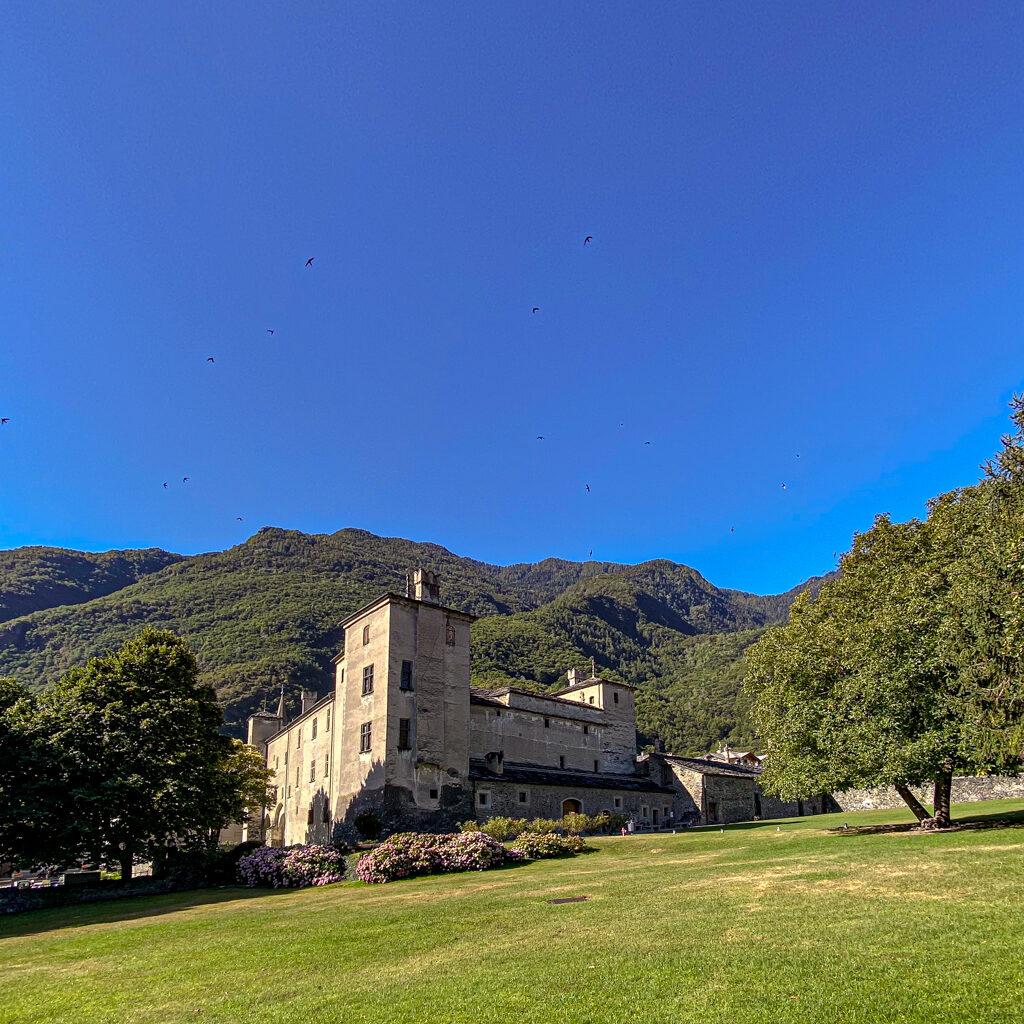 Castello di Issogne vista dell'esterno