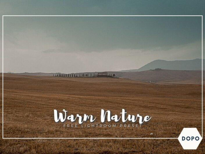 Warm nature lightroom preset