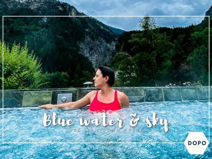 Blue water and sky lightroom preset